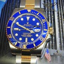 Rolex Submariner Date 18k Gold/Steel Blue Ceramic Watch...