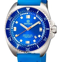 Deep Blue Deep Star 1000 Swiss Automatic Blue Sunray Dial Blue...