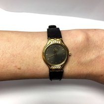 Omega 18k Yellow Gold Ladies Watch W/ Diamonds & Original...