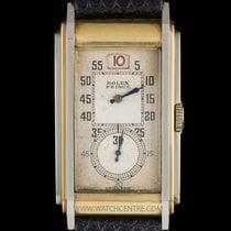 Rolex Rare 18k Y/G & 18k W/G Jump Hour Railway Prin