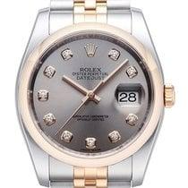 Rolex Datejust 36 Edelstahl Roségold 116201 Stahl DIA Jub