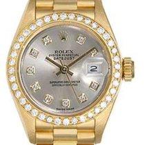 Rolex Ladies Rolex President 18k Yellow Gold Factory Diamond...