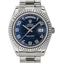 Ρολεξ (Rolex) Day-Date II 218239-BLUAFP 41mm Blue Arabic Wave...
