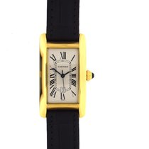 Cartier Tank Americaine Medium size gold automatic