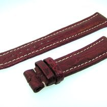 Breitling Band 20mm Croco Rot Braun Red Brown Strap Für...