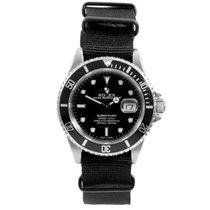Rolex Mens Stainless Steel 16610 Submariner - Black Dial -...
