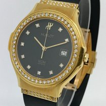 Hublot Classic 1391.3.054 Full Diamond 18K Yellow Gold Ladies...