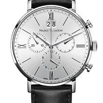 Maurice Lacroix Eliros Chronographe Silver Dial, Black...