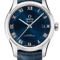 Omega 43313412103001 De VIlle Hour Vision Co-axial Blue
