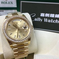 Rolex Cally - 40MM 228348 Day Date II Diamonds Champagn Dia. Dial