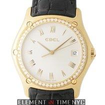 Ebel Classic Wave 18k Yellow Gold Diamond Bezel