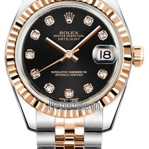 Rolex Datejust 31mm Stainless Steel and Rose Gold 178271 Black...