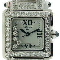 Σοπάρ (Chopard) Happy Sport Diamond Steel Watch w/18k White...
