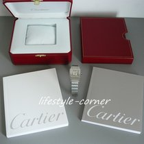 Cartier Santos Galbée PM (Stahl/Stahl) mit  Unterlagen &...