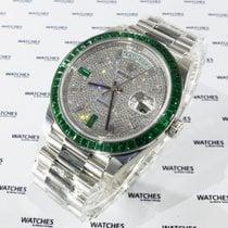 Rolex Day-Date Platinum Emerald extremely rare - 228396TEM
