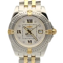 Breitling Galactic Lady Pilot Gold Steel Diamond Dial 32 mm...