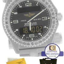 Breitling Emergency Mission Titanium E56121 Gray 43mm Watch...