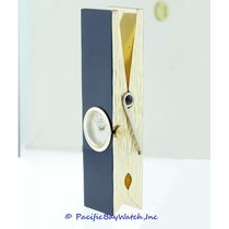 Buecherer Gold and Enamel Clothes Pin Clock Pre-owned