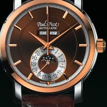 Paul Picot FIRSHIRE  RONDE  moon phase strap skin brown dial...