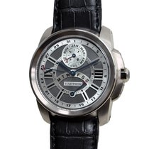 Cartier Calibre De Cartier 18k White Gold Gray Automatic W7100030