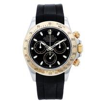 Rolex Daytona Steel & Gold 2-Tone Men's Watch Black...