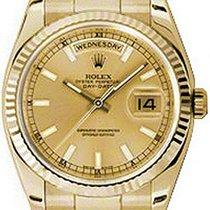 Ρολεξ (Rolex) Day-Date 36 118238-GLDSFO Champagne Index Fluted...
