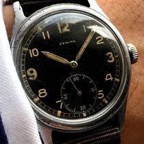 제니트 (Zenith) Military Zenith Handwinding Watch with black dial