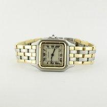 Cartier Ladies Two Tone Gold Santos Quartz Model On Bracelet