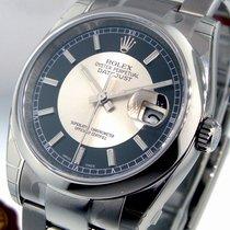 Rolex Datejust 116200 Steel 36 Mm Oyster Bulls Eye Black...