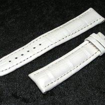 Breitling Tradema Band 20mm Croco Weiss White Strap Für...