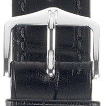 Hirsch Duke Lederarmband schwarz M 01028150-2-18 18mm