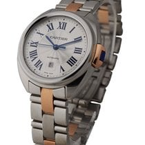 Cartier W2CL0004 Cle de Cartier 31mm in Steel - on Steel and...