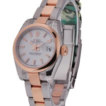 Rolex Unworn 179161 Ladys DATEJUST - RG and SS 179161 - Smooth...