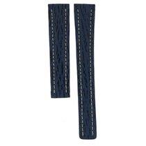 Breitling Blue & Black Striped Leather Strap For Deploymen...