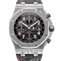 Audemars Piguet Royal Oak Offshore Chronograph Black Steel/Lea...