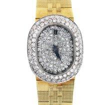Concord 18K  Gold Diamond Dial Diamond Bezel Ladies Watch