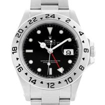 Rolex Explorer Ii Black Dial Steel Mens Watch 16570 Box Papers
