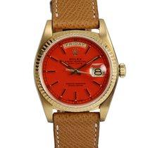 Rolex Red/Orange Stella Day-Date