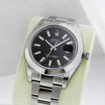 Rolex Datejust II 41mm Stainless Steel Black Index Dial 116300