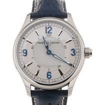 Frederique Constant Horological Smartwatch 42 Silver Dial Blue...