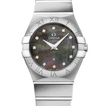 Omega Constellation Tahiti Quartz Stainless Steel 27mm Ladies...