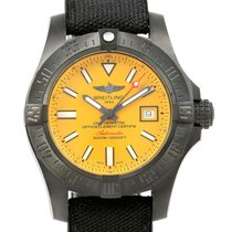 Breitling Avenger Ii Seawolf Cobra Yellow Le Blacksteel Watch...