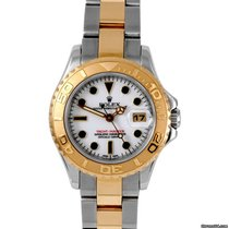 Rolex Ladies 18K/SS Yachtmaster - White Dial - 169623