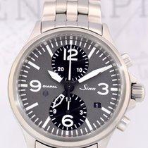 辛恩 (Sinn) 756 DIAPAL Flieger Duochronograph GMT grey Dial...
