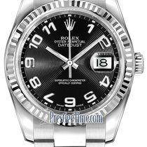 Rolex Datejust 36mm Stainless Steel 116234 Black Concentric...