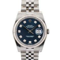 Rolex Datejust 36mm In Acciaio Con Diamanti Ref. 116234