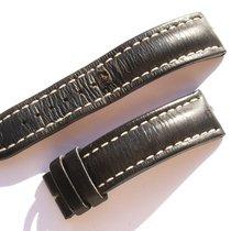 Breitling Band 22mm Kalb Schwarz Black Calf Strap Correa Für...