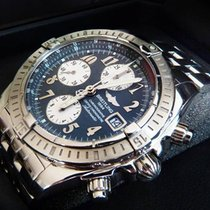 Breitling Chronomat Evolution grau/grey, original Pilotband...