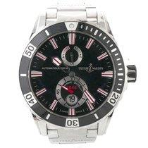 Ulysse Nardin Mens  Maxi Marine Diver Black Dial Rubber Watch...