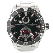 Ulysse Nardin Mens  Maxi Marine Diver Black Dial Rubber Watch...